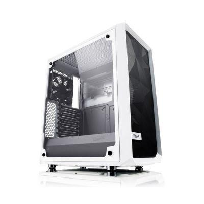 image Fractal Design Meshify C - TG Midi Tower Transparent, Blanc