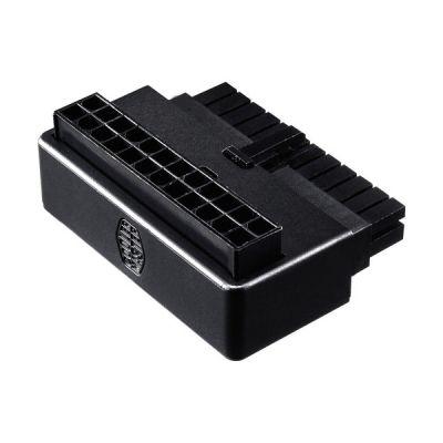 image Cooler Master Adaptateur ATX 24 broches à 90° pour câble alimentation, câblage élégant, compatibilité universelle, installation facile, garantie 3 ans - Condensateurs anti-ondulation