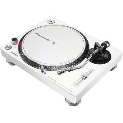 image PIONEER PLX-500 Blanche - Platine vinyle à entraénement direct 3 vitesses (33-45-78 trs/min) avec pre-ampli intégré et port USB