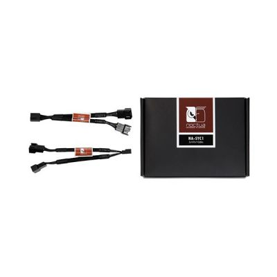 image Noctua NA-SYC1, Câble en Y 4 Broches pour Ventilateurs de PC (Noir)