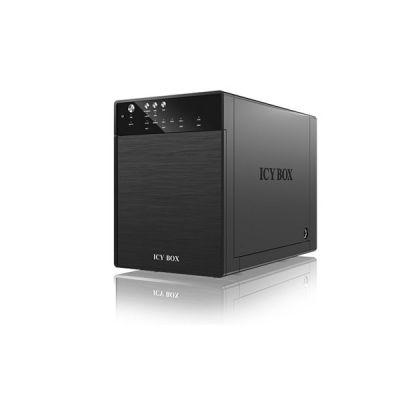 image Icy Box 11584 Boîtier externe pour 4 Disque Dur 3,5'' SATA I/II/III/eSATA USB 3.0 Noir