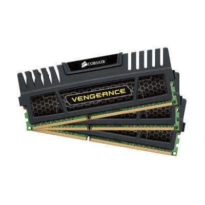 image Corsair CMZ12GX3M3A1600C9 Vengeance 12GB (3x4GB) DDR3 1600 Mhz CL9 Mémoire pour ordinateur de bureau performante avec profil XMP. Noir