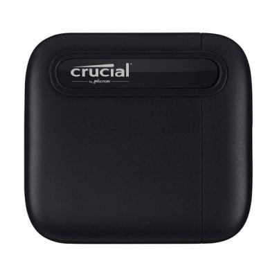 image Crucial X6 500Go Portable SSD – Jusqu'à 540Mo/s – USB 3.2 – USB-C - CT500X6SSD9 + USB-C to USB-A Adaptateur- CTUSBCFUSBAMAD
