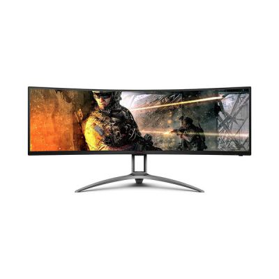 image AOC Moniteur gaming incurvé AGON AG493UCX 124cm (49pouces) (HDMI, DisplayPort, USB-C, hub USB, 5120x1440px, 120Hz, HDR 400, FreeSync) noir