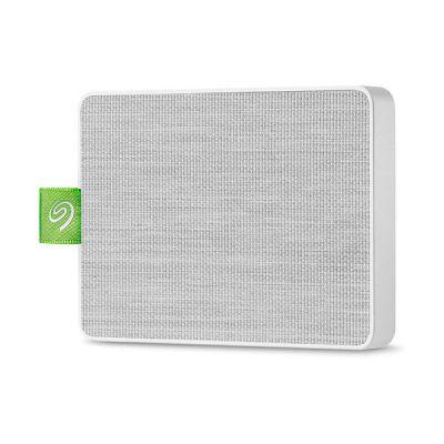 image Seagate Ultra Touch SSD 500 Go, SSD externe portable, blanc, USB-C et USB 3.0, pour PC et Mac, Abonnement de 4 mois à la formule Adobe Creative Cloud, services Rescue valables 3 ans (STJW500400)