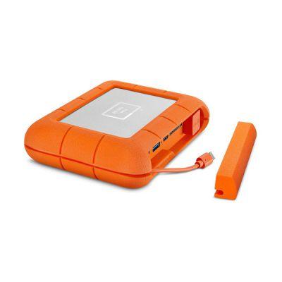image LaCie Rugged BOSS SSD 1 To, USB-C USB 3.0 avec emplacements pour cartes SD et CF, résistant aux chutes, aux chocs, à la poussière et à l'eau, services Rescue valables 3 ans (STJB1000800)