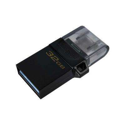 image Kingston DataTraveler microDuo3 G2 - DTDUO3G2/32GB Clé microUSB et USB Type-A pour Android OTG, Noir