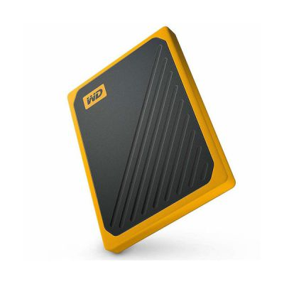 image WD - My Passport Go 500GB - Disque SSD Portable - Finition Amber