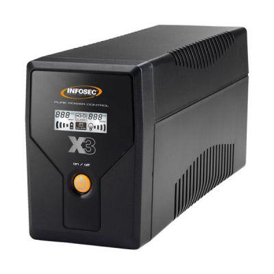 image Infosec X3 EX Onduleur 500 VA 2 Prises Schuko-FR RJ11-45 LCD USB Noir