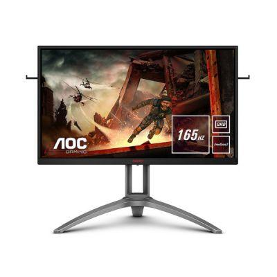 image AOC Écran gaming AGON AG273QX 68cm (27pouces) (HDMI, DisplayPort, hub USB, FreeSync 2, temps de réponse de 1ms, HDR 400, 2560x1440, 165Hz) noir