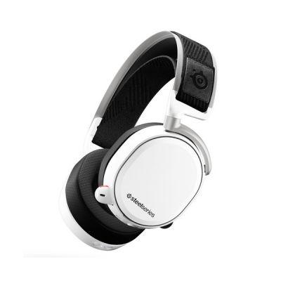 image SteelSeries Arctis Pro Wireless - Casque Gaming sans fil (2,4 G & Bluetooth) - Pilotes d'enceintes haute résolution - Pour PC, PS5 et PS4 - Blanc