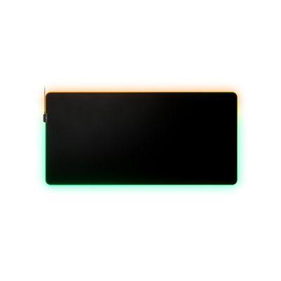image SteelSeries QcK Prism 3XL - Tapis de souris de jeu en tissu - Éclairage RVB 2 zones - Éclairage événementiel en temps réel - Optimisé pour les capteurs de jeu - Taille 3XL (1220mm x 590mm x 2mm)