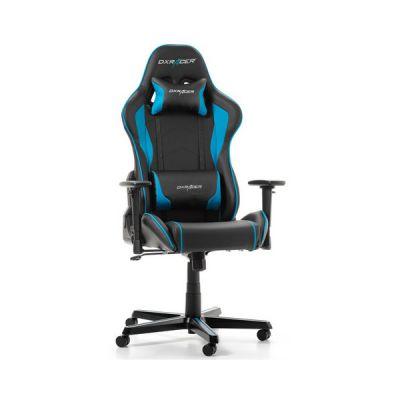 image DXRacer (l'original) Formula F08 Chaise Gaming, Similicuir, Noir & Bleu, 145-180 cm