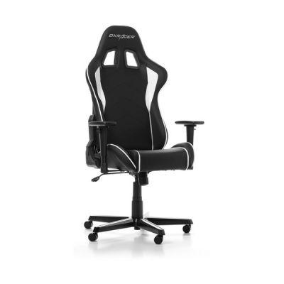 image DXRacer (l'original) Formula F08 Chaise Gaming, Similicuir, Noir & Blanc, 145-180 cm