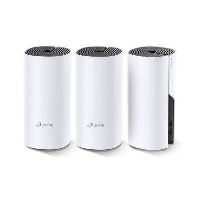 image TP-Link WiFi Mesh Systèmes Deco M4 (3-pack) performant pour toute la maison, Couverture WiFi de 320㎡, 2 Gigabit Ethernet Ports, Contrôle parental, Compatible avec toutes les Box Fibre
