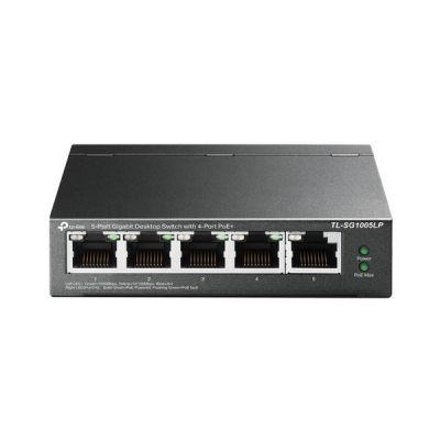 image TP-Link Switch PoE (TL-SG1005LP) 5 ports Gigabit, 4 ports PoE+, 40W pour tous les ports PoE, Boitier Métal, Installation facile, idéal pour créer un réseau de surveillance polyvalent et fiable