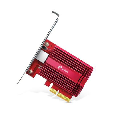 image TP-Link Carte WiFi PCIe 10 Gigabit TX401, Réseau 10Gbit/s, Câble Ethernet CAT 6A inclus, Latence ultra-faible, Compatible avec Windows 10/8.1/8/7, les serveurs Windows 2019/2016/2012 R2 et Linux