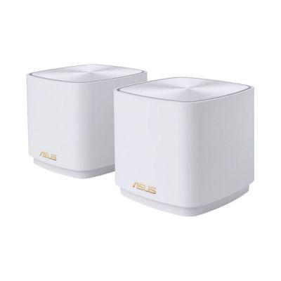 image ASUS AX1800 Lot de 2 systèmes Wi-FI maillé pour Toute la Maison – Couverture jusqu'à 300 m²/Plus de 5 pièces, Installation Facile, sécurité réseau et contrôles parentaux gratuits à Vie