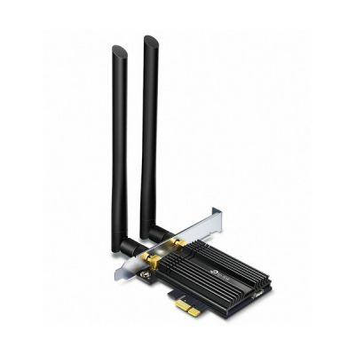 image TP-Link Carte WiFi 6 AX3000 PCI Express (PCIe), Archer TX50E, Adaptateur Bi-bande Carte WiFi Bluetooth 5.0 avec 2 antennes multidirectionnelles, Intel Wi-Fi 6 , Ideal pour Gaming