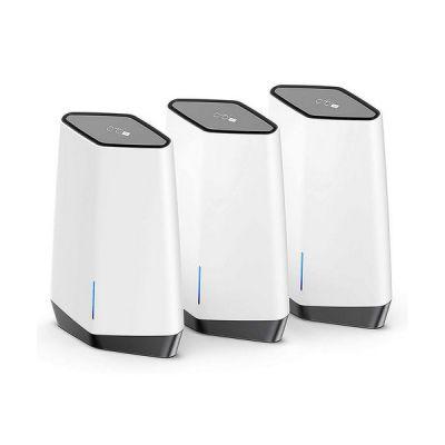 image NETGEAR Système WiFi 6 Mesh Tri-Bandes Orbi Pro (SXK80B03)   Pack de 3, WiFi partout dans l'entreprise ou à la Maison   Couverture jusqu'à 600 m² et 256 Appareils   AX6000 802.11 AX (jusqu'à 6 Gbit/s)