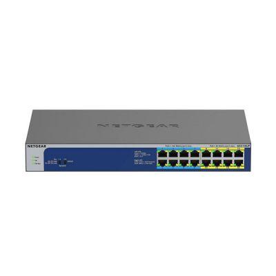 image NETGEAR (GS516UP)Switch Ethernet PoE 16ports Gigabit (10/100/1000), switch RJ45 avec 8ports PoE+ et 8 ports PoE++ @ 380W, Silencieux, bureau/rack et protection à vie ProSAFE