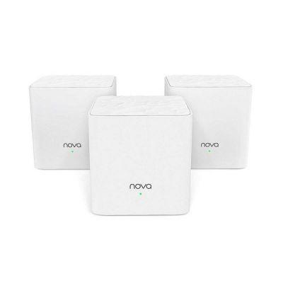 image Tenda Système WiFi Mesh Bi-bande AC1200 MW3 (3-Pack) pour Toute la Maison (Routeur & Répéteur Wi-Fi Remplacement), Couverture WiFi de 300m², Contrôle Parental, Fonctionne avec Toutes les Box Internet