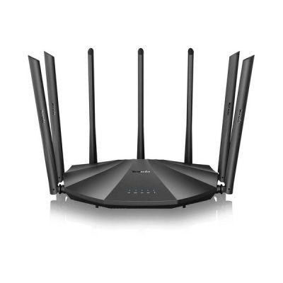 image Tenda AC23 - AC2100 Routeur WiFi Gigabit double bande (7*6dBi external Antennas, 2,4 GHz & 5 GHz, 4 Ports Gigabit , MU-MIMO, pour Fibre Optique, réseau hôte, IPV6)