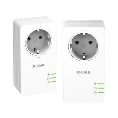 image D-Link DHP-P601AV CPL 1000 mbps, Kit de 2 Adaptateurs HomePlug AV2 1000 HD Prise Intégrée - Idéal pour Profiter du Service Multi-TV à la Maison