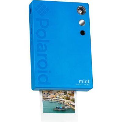 image Polaroid Mint Appareil photo numérique à impression instantanée (Bleu), impression sur papier photo collé sur support Zink 2x3
