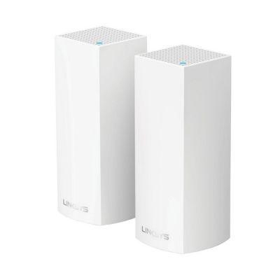 image Linksys Système WiFi Mesh Multiroom triple bande Velop WHW0302 (routeur Wi-Fi AC2200 / extension Wi-Fi pour une portée de signal jusqu'à 350 m2, contrôle parental, pack de 2, blanc)
