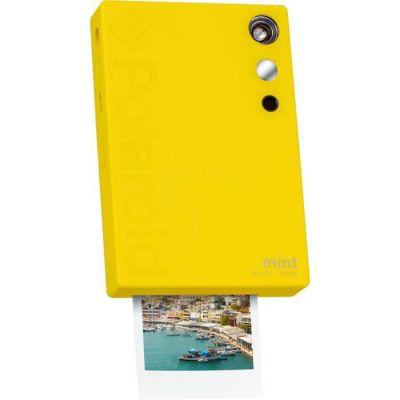 image Polaroid Mint Appareil photo numérique à impression instantanée (Jaune), impression sur papier photo collé sur support Zink 2x3