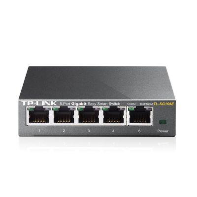 image TP-Link Switch Ethernet (TL-SG105E) Gigabit 5 RJ45 Ports 10/100/1000Mbps Web Manageable, Idéal partage de connexion et mise en réseau pour les petites entreprises et les bureaux domestiques
