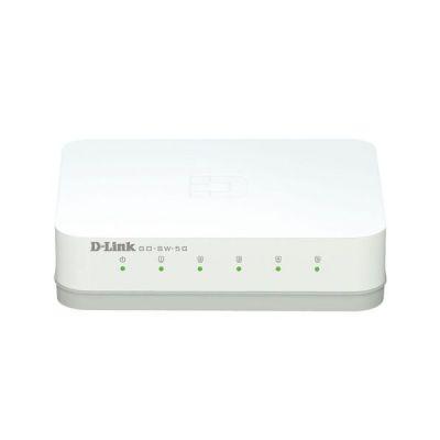 image D-Link GO-SW-5G Mini Switch Gigabit 5 Ports Ethernet Blanc - Idéal Partage de Connexion et Mise en Réseau Small/Home Office & Amazon Basics Câble réseau Ethernet RJ45 catégorie6-1,5 m