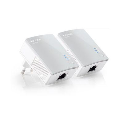 image TP-Link CPL 600 Mbps et Ports Ethernet, Prise CPL Kit de 2, Compatible avec tous les Anciens Modèles et toutes les box internet, Blanc, TL-PA4010 KIT