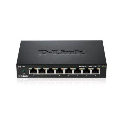 image D-Link DGS-108 Switch 8 Ports Gigabit Metallique 10/100/1000mbps - Idéal Partage de Connexion et Mise en Réseau Small/Home Office