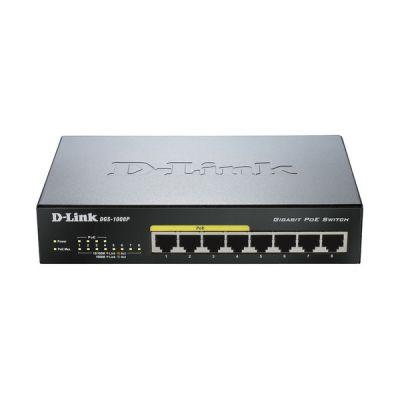 image D-Link DGS-1008P Switch 8 Ports Gigabit POE 10/100/1000mbps - Idéal Partage de Connexion et Mise en Réseau Small/Home Office