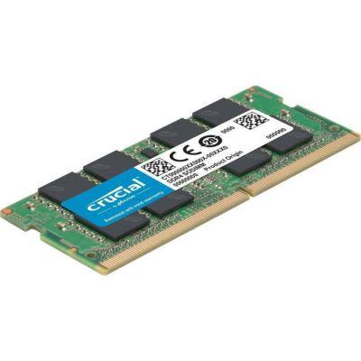 image Crucial CT16G4SFD832A CT16G4SFD832A 16Go (DDR4, 3200 MT/s, PC4-25600, CL22, Dual Rank x8, SODIMM, 260-Pin) Mémoire