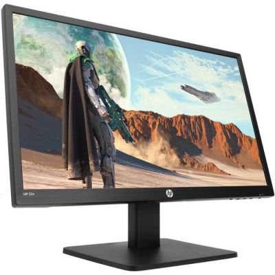 """image HP Moniteur TN Gaming 22x, écran FHD 22"""", Technologie AMD FreeSync, Temps de Réponse Overdrive 1 ms, Fréquence 144 Hz, Haut-Parleurs Intégrés, Lumière Bleu Faible, Compatible Vesa, HDMI, VGA, Noir"""