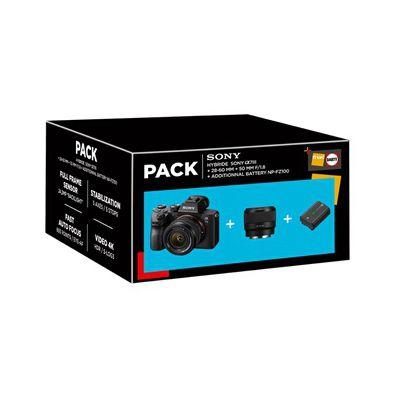image Appareil photo hybride Sony PACK A7 III + FE 28-60mm + FE 50mm F/1,8 + 2ème Batterie