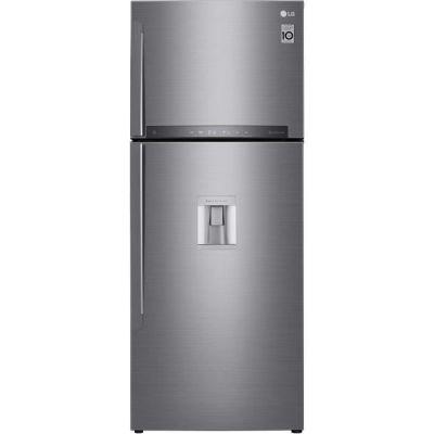 image LG GTF7043PS - Réfrigérateur congélateur haut - 438L (321+117) - Froid ventilé A++ - L70m x H178cm - Inox