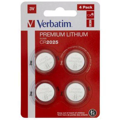 image Pile Verbatim CR2025 - Pile au lithium 3V (pack de 4)