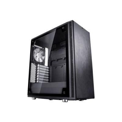image Fractal Design Define C Verre trempé - Compact Mid Tower Boite d'ordinateur - ATX - Optimisé pour Un débit d'air élevé et Une Informatique Silencieuse - 2X 120mm Silent Ventilateurs Inclus - Noir TG