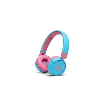 image JBL JR310BT – Casque sans fil avec micro pour enfants – Léger, confortable et pliable – Avec volume limité à 85 dB – Autonomie de 30 hrs – Livré avec un jeu d'autocollants – Bleu