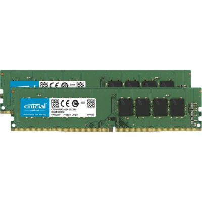 image Crucial CT2K16G4DFD8266 32Go Kit (16Gox2) (DDR4, 2666 MT/s, PC4-21300, Dual Rank x8, DIMM, 288-Pin) Mémoire