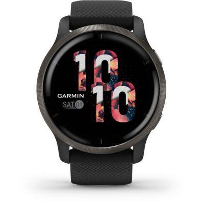 image Garmin Venu 2 – Montre connectée GPS multisports avec écran AMOLED – autonomie longue durée (11 jours) – Noire / Gray - Boitier 45 mm