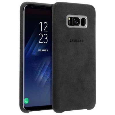 image Coque Alcantara Samsung pour Galaxy S8 Plus - Gris