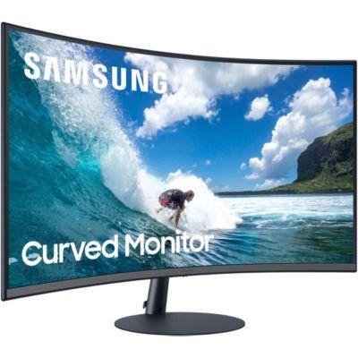 """image SAMSUNG C32T550FDR Ecran PC Incurvé, Dalle VA 32"""", Résolution Full HD (1920 x 1080), 75 Hz, 4ms, AMD FreeSync, Noir"""