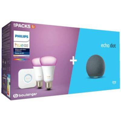 image Ampoule connectée Philips Pack Hue/Amazon Starter kit