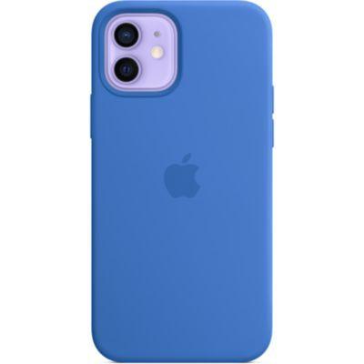 image Apple Coque en Silicone avec MagSafe (pour iPhone12  12Pro) - Bleu Capri