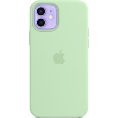image Apple Coque en Silicone avec MagSafe (pour iPhone12  12Pro) - Pistache
